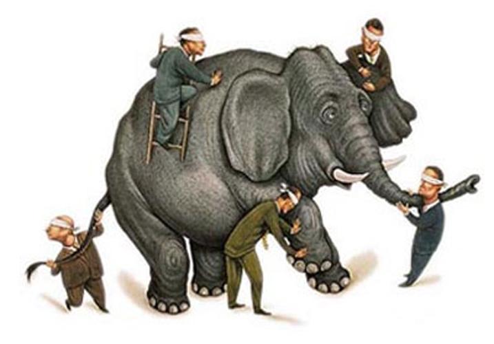Los ciegos y el elefante [Parábola] Ciegos-elefante-2